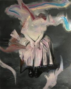 Markus Boesch - Sitting Girl 100 x 80 cm Oil on Canvas www.markusboesch.net