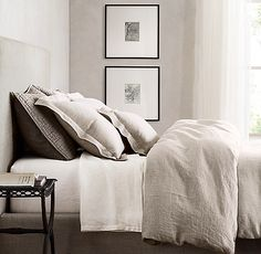 Vintage-Washed Belgian Linen Bedding Collection - Health and Home Bedding Master Bedroom, Dorm Bedding, Linen Bedding, Bedding Sets, Ikea Bedroom, Guest Bedrooms, Master Bedrooms, Bedroom Inspo, Bed Linens