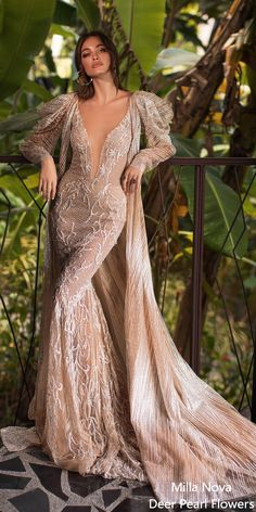 "Milla Nova Wedding Dresses 2020 are here! This is the Milla Nova 2020 ""Milla by Lorenzo Rossi"" bridal collection for you. Amazing Wedding Dress, Dream Wedding Dresses, Designer Wedding Dresses, Bridal Dresses, Wedding Gowns, Perfect Wedding, Wedding Ceremony, Flowy Gown, Beautiful Gowns"