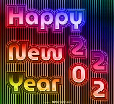 Free Colorful New Year Background 2022 Graphic