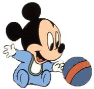 Baby Mickey w/Ball