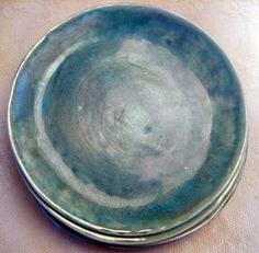 Handmade dinner platesstoneware by Lesliefreemandesigns on Etsy