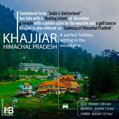 Experience the SWITZERLAND in INDIA! #KHAJJIAR, Himachal Pradesh - a place that has so much to offer that can leave anyone in awe of its beauty.  For a sneak peek into India's popular hill destinations, book hotels with HotelBids & get the best Hotel deals @ your Price. #DidYouKnow #StayAtYourPrice #BudgetHotels #Himachal