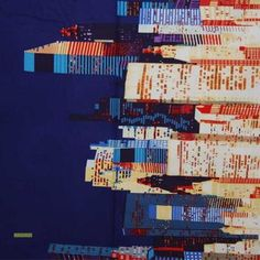 Latest Designer Fabric 'Big City fabric in blue' by Alexander Henry (USA). Buy online or visti our fabric retail store in Christchurch. Orla Kiely Fabric, Marimekko Fabric, Designers Guild, Japanese Fabric, Fabric Online, Fabric Swatches, Fabric Design, Colours, City