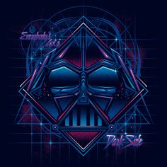 """Star Wars - Darth Vader Murcia, Spain-based artist Moisés Martínez Pérez (a.k.a. """"StudioM6"""") has created the 90s Faces Collection, a series of stylized t-shirt designs with a 1990s flair based on t..."""