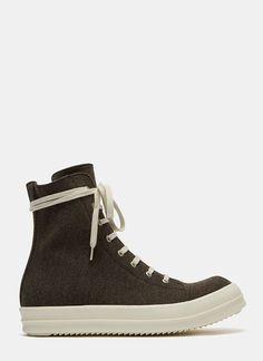 RICK OWENS DRKSHDW Men'S Dna Dust Vegan High-Top Sneakers In Brown. #rickowensdrkshdw #shoes #