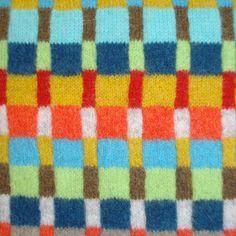 multicoloured check close up