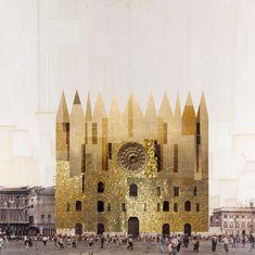 Beniamino Servino. Rilievo fotografico del Palazzo Ducale di Milano. Photographic Survey of the Ducal Palace in Milan. [Based on a photo by Nicolò Quirico].