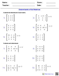 These Algebra 2 generators allow you to produce unlimited numbers of dynamically created Matrices worksheets. Algebra 2 Worksheets, Learn Math Online, Real Life Math, Math Formulas, Math Questions, Matrix, Calculus, Math Lessons, Biology Lessons