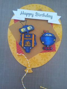 Birthday card using SSS stamps and dies.