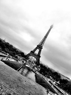 Eiffel Tower, France 2012. I love this photo. The tilt and the black and white... One of my favorites.