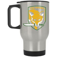 Fox Hound flag Silver Stainless Travel Mug