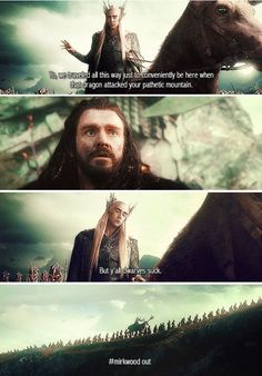 I get that they don't like each other but that was a dick move, Thranduil