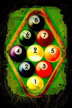 Grunge Style 9 Ball Rack Photograph. Pool Table RoomPool TablesGame ...