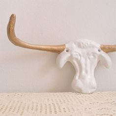 long horn wall hook XL by monkeyandsquirrel on Etsy, $28.00