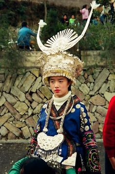 Hmong girl in New Year finery