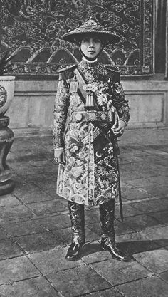 Emperor of Annam in full-dress uniform. Photo from the book Peoples of all Nations.