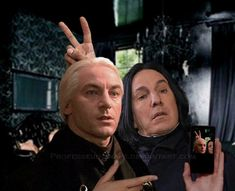 Snape and Lucius selfie :)