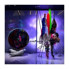 """BARNEY'S, Madison Avenue, New York, """"Love Peace Joy Project"""", (Celebrated artists partnered with the retailer to create inventive interpretations of love, peace, and joy, themes that continue to bring people together, especially during the Holiday's/Christmas"""", pinned by Ton van der Veer Christmas Displays, Christmas Holidays, Stage Background, Madison Avenue, Store Windows, Window Art, Window Displays, Window Shopping, Peace And Love"""