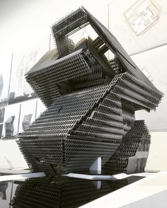 The final model by Chris Nolop - from last weekends final Graduate Thesis review at SCI-Arc.  #Sciarc #thesis