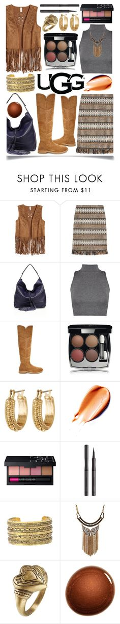 """The New Classics With UGG: Contest Entry"" by ittie-kittie on Polyvore featuring Tory Burch, Rebecca Minkoff, WearAll, UGG, Chanel, Melrose & Market, NARS Cosmetics, Burberry, Etro and ugg"