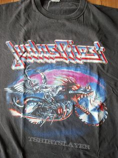 Judas Priest Painkiller tour shirt Heavy Metal does`nt get heavier than Painkiller, wonderful album and a great shirt. from Daniel Sodomaniac Rock T Shirts, Band Shirts, Fashion Shoes, Mens Fashion, Judas Priest, Men's Shoes, Cool Outfits, Street Wear, Femininity