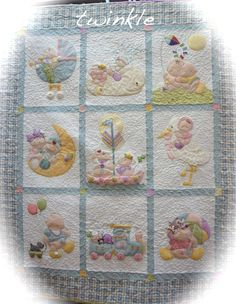 Enjoy Arts And Crafts Small Quilts, Mini Quilts, Baby Quilts, Children's Quilts, Baby Applique, Applique Quilts, Quilting Projects, Quilting Designs, Fabric Panel Quilts