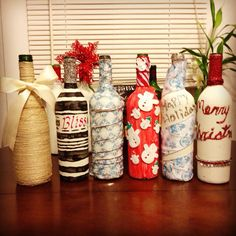 Recycled wine bottle craft!