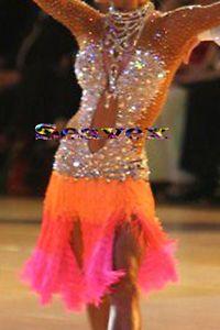 Women Ballroom Latin Rhythm Rumba Cha Salsa Dance Dress US 6 UK 8 Same Color