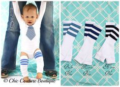 Baby Boy Gift Set Tie Onesie & Leg Warmers by ChicCoutureBoutique, $26.95