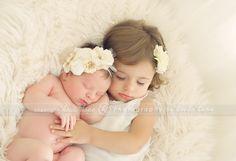 Newborn baby L and her big sister, 15 month old E. Rhode Island newborn photographer. » Heidi Hope Photography