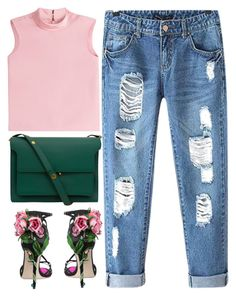 """""""ROSE"""" by kawrose02 ❤ liked on Polyvore featuring RED Valentino, Dolce&Gabbana, Chicnova Fashion and Marni"""