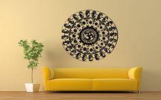 Wall Vinyl Sticker Decals Mural Room Design Pattern Yoga Hindu Buddha Sign Mandala bo402