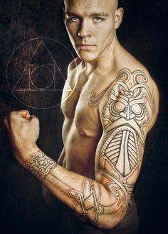 Tiwas mask tattoo