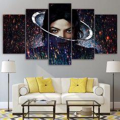 Michael Jackson Music Pop Rock 5Pcs Painting Canvas Wall Art Poster Home Decor
