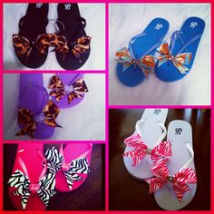 Bow Sandals by Bows By Barbella! Etsy.com/shop/bowsbybarbella