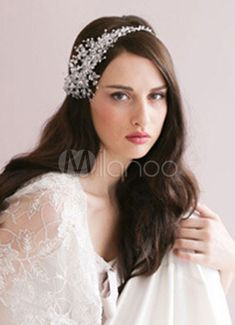 ヘアアクセサリー ヘッドドレス ホワイト 頭飾り ウェディングパーティー&ウエディング - Milanoo.jp