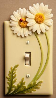 Daisies & Ladybug Single Switchplate