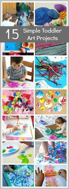 15 Art Projects for Toddlers (and Preschool)- Process art activities for kids including spin art and activities using liquid watercolors and natural materials! #toddlers #toddlerart #processart #preschool #preschoolart #ece