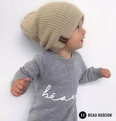 Beige Knit Beanie – Beau Hudson