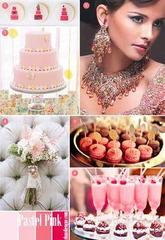 Pastel Pink Wedding Inspiration Board
