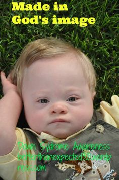 """Made in God's image"" Down Syndrome Awareness"