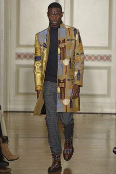 Stella Jean Men's RTW Fall 2015 - Slideshow Style Success-jacket silhouette, fabric design.