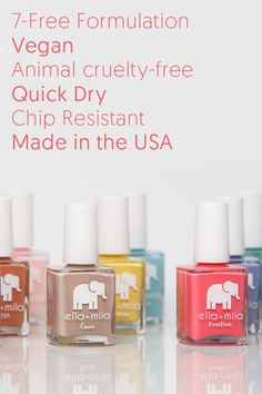 Free Standard Shipping7- Free Formulation, Vegan, Animal cruelty-free, Quick Dry, Chip Resistant, Made in the USA.