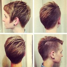 Layered Short Haircut - Shaved Hair Styles Ideas  Like the back but not the shaved side