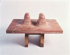 Isamu Noguchi – Double Red Mountain, 1969, Persian red travertine   The Noguchi Museum