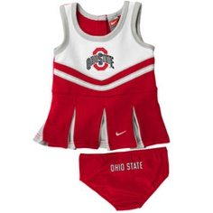 If you have a baby girl, you can bet this will be a gift from me :) -- Ohio State Buckeyes Nike Toddler Cheerleader Set