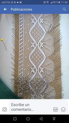 Bobbin Lace Patterns, Weaving Patterns, Doily Art, Lacemaking, Doilies, Tatting, Origami, Crafts, Inspiration