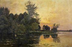 Albert Rigolot - Soleil couchant dans la Lourine