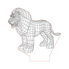 Lion illusion lamp plan vector file for CNC - 3d Illusion Art, Lamp Logo, Laser Cutter Projects, Lampe Decoration, Lampe Led, Led Night Light, 3d Animation, String Art, Zbrush